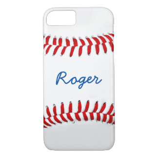 Baseball Fan Photo Gift Idea Personalized Name iPhone 7 Case
