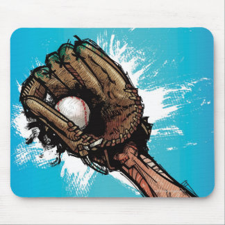 Baseball glove with base ball mouse pad