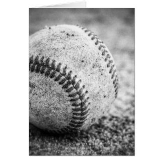 Baseball in Black and White Card