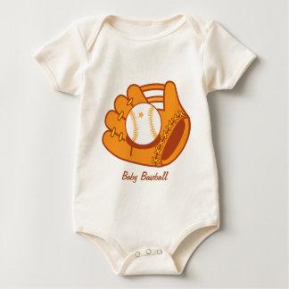 Baseball mitt baby bodysuit