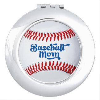 Baseball Mom Gift Idea Compact Mirror