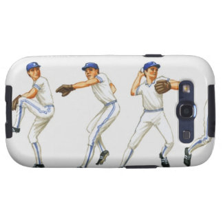 Baseball pitching technique, multiple image samsung galaxy s3 cases