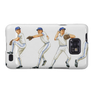Baseball pitching technique multiple image samsung galaxy s cases