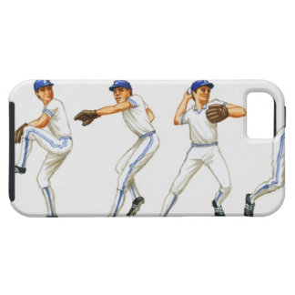 Baseball pitching technique, multiple image tough iPhone 5 case