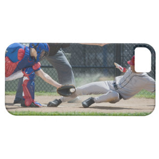 Baseball player sliding into home plate iPhone 5 case
