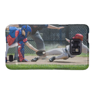 Baseball player sliding into home plate galaxy SII covers