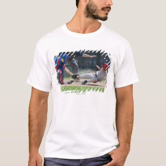 Baseball player sliding into home plate T-Shirt