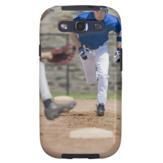 Baseball player trying to steal base galaxy SIII covers