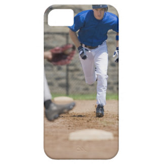Baseball player trying to steal base iPhone 5 covers