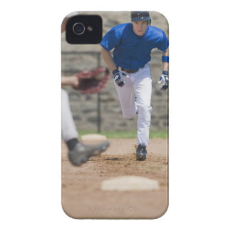 Baseball player trying to steal base iPhone 4 cover