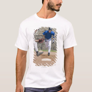 Baseball player trying to steal base T-Shirt