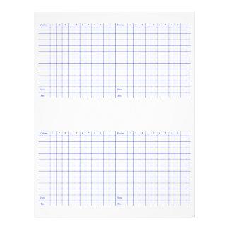 Baseball Scorecard. 21.5 Cm X 28 Cm Flyer