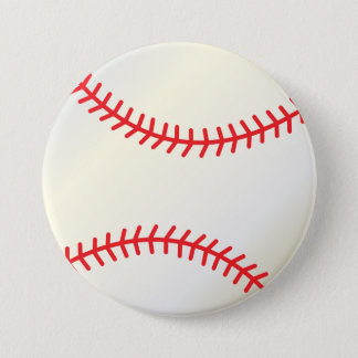 Baseball Sport Ball 7.5 Cm Round Badge