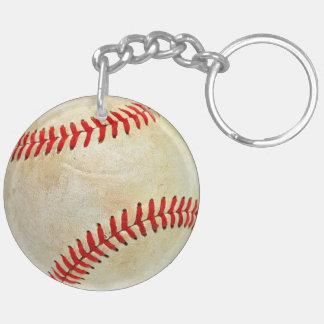 Baseball sport ball game play dirty old key ring