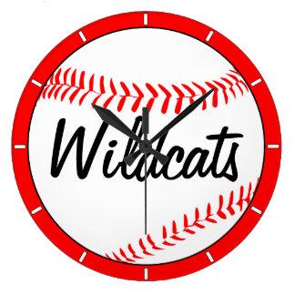 Baseball Team Name and Color Custom Wall Clock