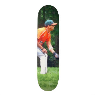 Baseball - Warming Up Before the Game Skateboard Decks