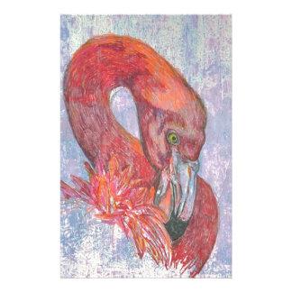 Bashful Flamingo Stationery