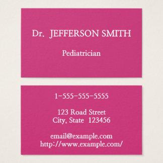 Basic and Elegant Pediatrician Business Card