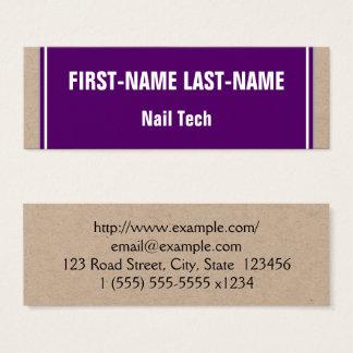 Basic and Minimalist Nail Tech Business Card