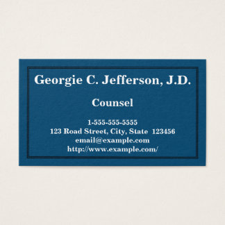 Basic and Simple Counsel Business Card