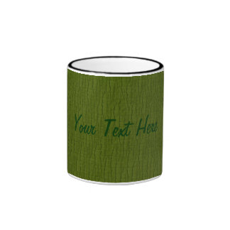 Basic Avocado, Your Text Here Ringer Mug