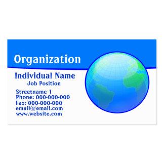 Basic Blue Business Card Templates