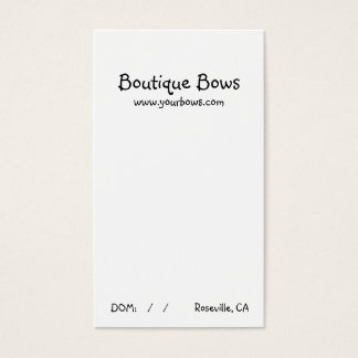 Basic Boutique Bow Card