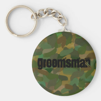 Basic Button Key Chain Camouflage Groomsman