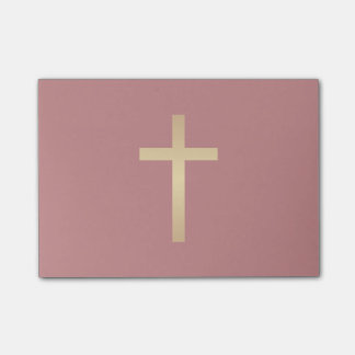 Basic Christian Cross Golden Ratio Gold Red Post-it® Notes