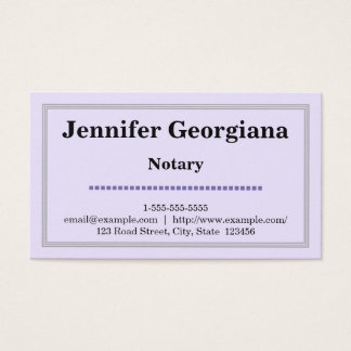 Basic & Clean Notary Business Card
