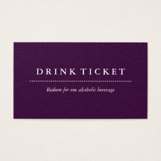 Basic Clean Plum Drink Ticket