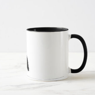 Basic cup with heron silhouette