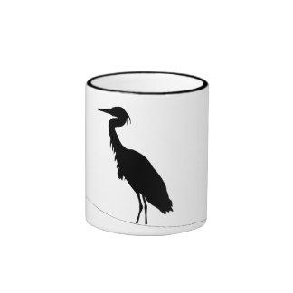 Basic cup with heron silhouette ringer mug