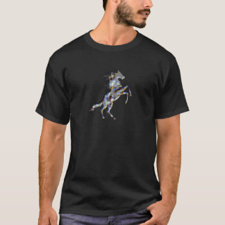 Basic Dark T-Shirt, Black OPAL horse T-Shirt