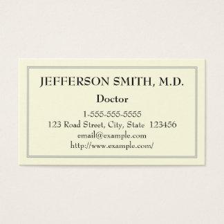 Basic Doctor Business Card