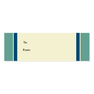 Basic Gift Tage Pack Of Skinny Business Cards