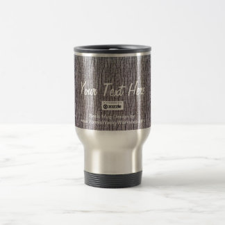 Basic Gray, Your Text Here Stainless Steel Travel Mug