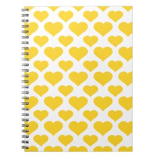 Basic Heart Freesia Spiral Note Books