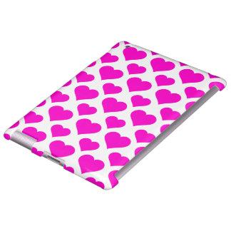 Basic Heart Pattern Pink iPad Case