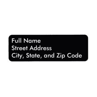 Basic Return Address Label