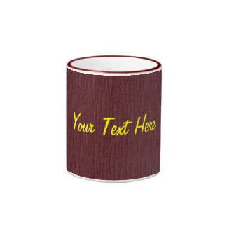 Basic Maroon, Your Text Here Ringer Mug