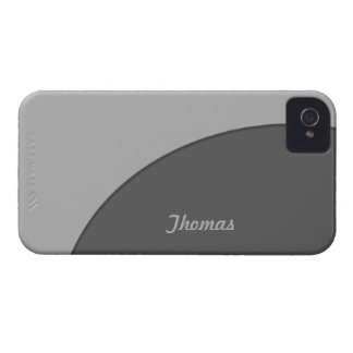 Basic Modern Grey iPhone 4 Case-Mate Case