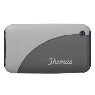 Basic Modern Grey Tough iPhone 3 Covers