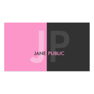 Basic Modern Two Color Monogram Pack Of Standard Business Cards