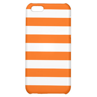 Basic Orange and White Stripes Pattern Case For iPhone 5C