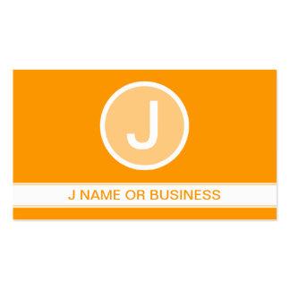 basic orange bubble business card template
