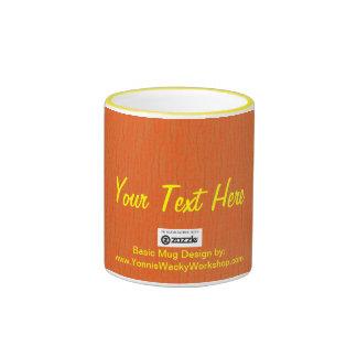 Basic Orange, Your Text Here Ringer Mug