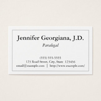 Basic Paralegal Business Card