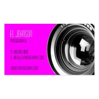 Basic Photography Business Card (Magenta)