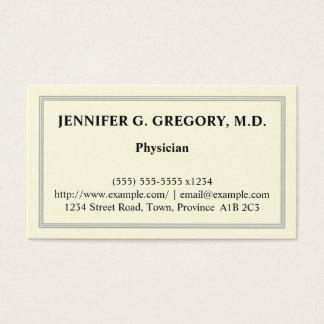 Basic Physician Business Card